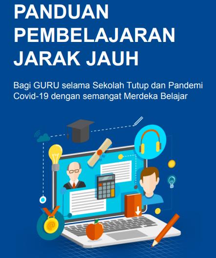 gambar cover buku panduan PJJ untuk guru