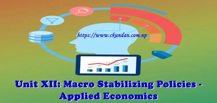 Unit XII: Macro Stabilizing Policies - Applied Economics