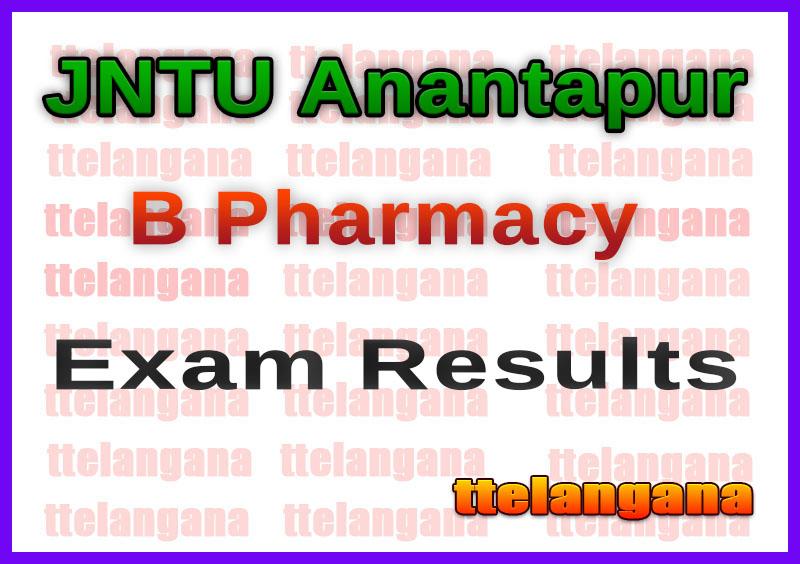 JNTU Anantapur B Pharmacy Regular Exam Results