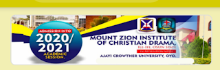 Mount Zion Institute - ACU Diploma Admission List 2020/2021