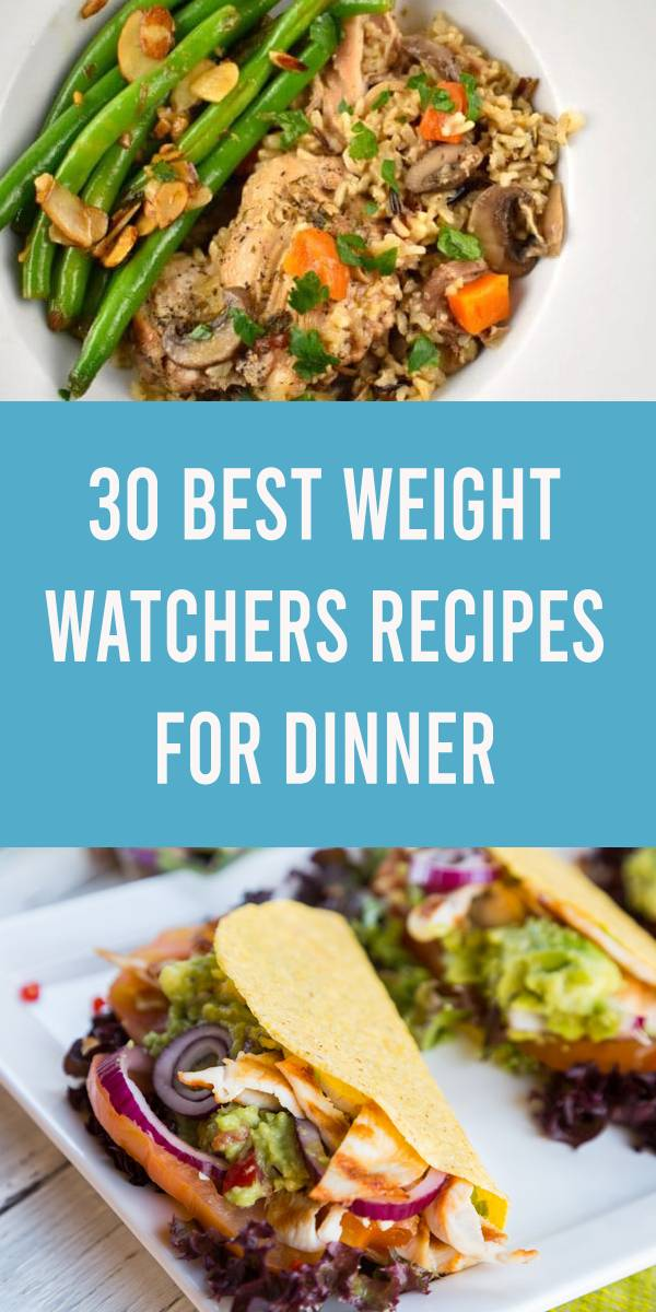 These 30 different amazing Weight Watchers Recipes for Dinner for Two make it easier to cook a deliciously healthy dinner that doesn't create leftovers. #weightwatchers #ww #dinnerrecipes #dinner