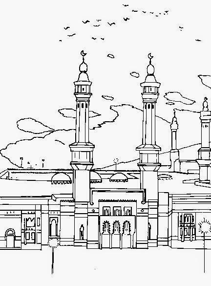 Gambar Animasi Kartun Mesjid Untuk Mewarnai  Dp BBM Kangen