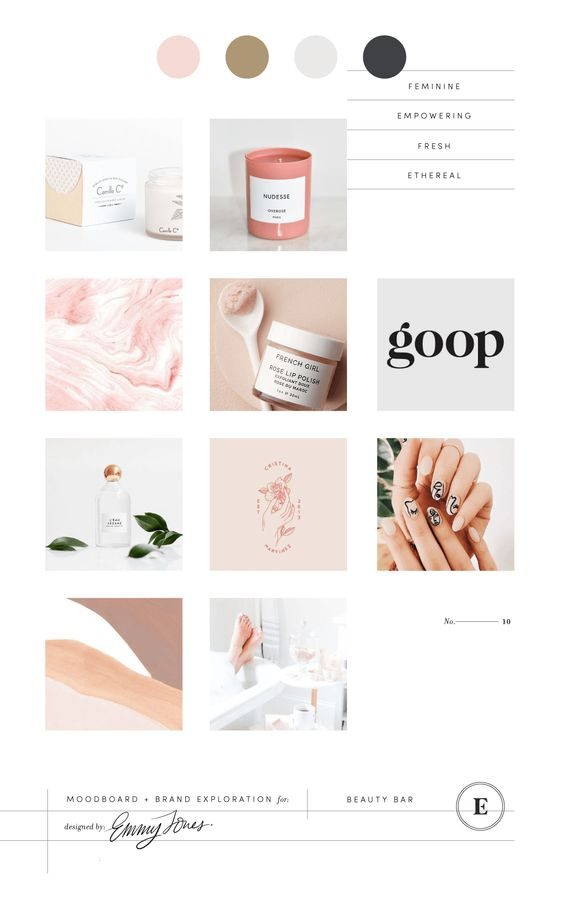 Pink Brand Design Inspiration Board