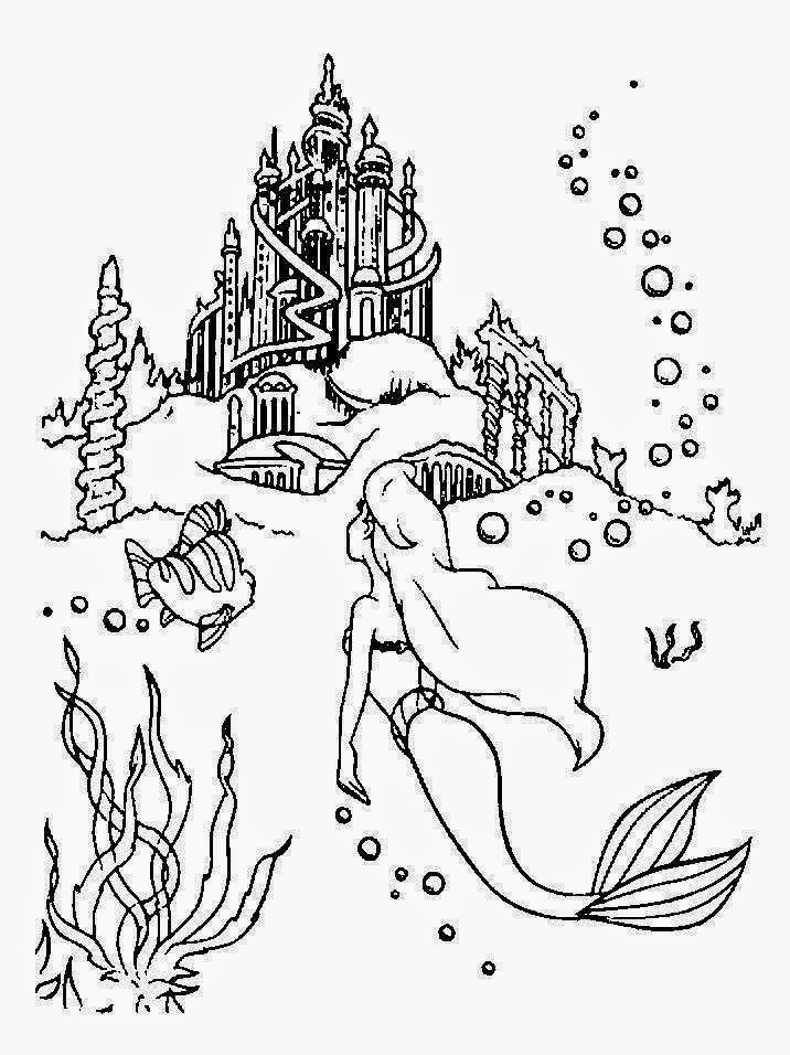 print out mermaid coloring pages - photo#7