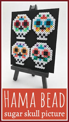 Hama bead sugar skull picture tutorial