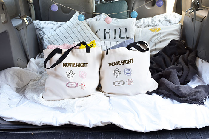 How To Create Drive-In Cinema Date Night Tote Bags With Cricut