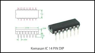 Kemasan IC 14 PIN DIP