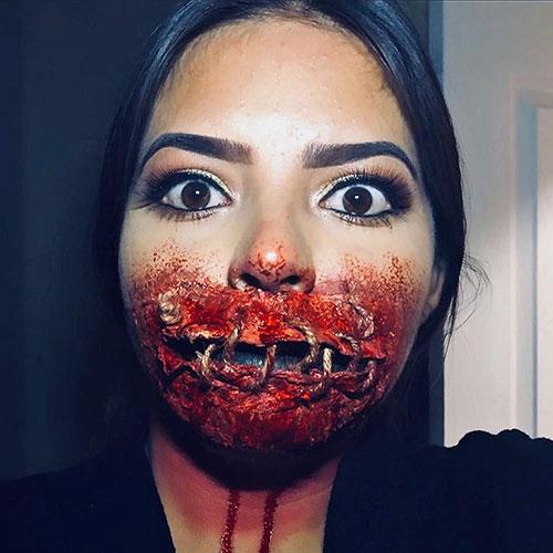 makeup gore halloween