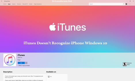 iTunes Doesn't Recognize iPhone Windows 10