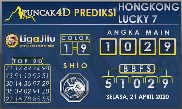 PREDIKSI TOGEL HONGKONG LUCKY7 PUNCAK4D 21 APRIL 2020