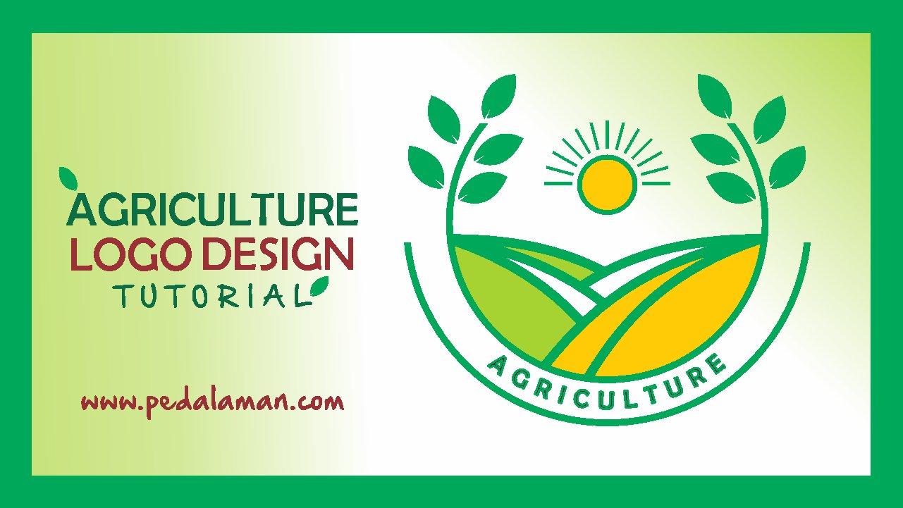 Membuat desain logo agriculture