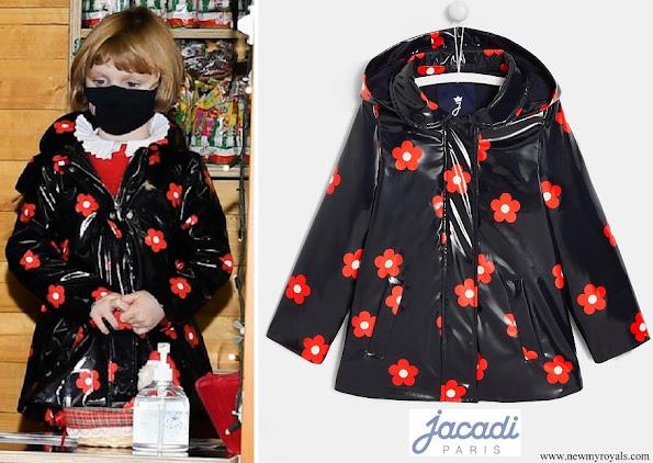 Princess Gabriella wore Jacadi floral print raincoat