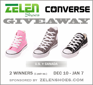 Enter to win one of two pairs of Converse shoes, up to $70 each. Giveaway ends 1/7/14.