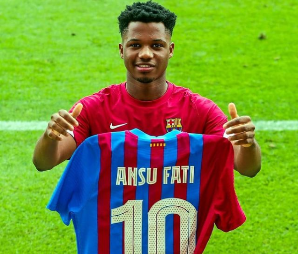 Barcelona announces Ansu Fati as Messi's replacement to take over No.10 shirt
