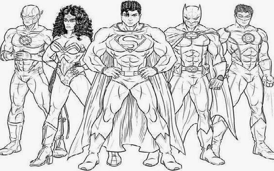 Justice League Members Free Coloring Pages