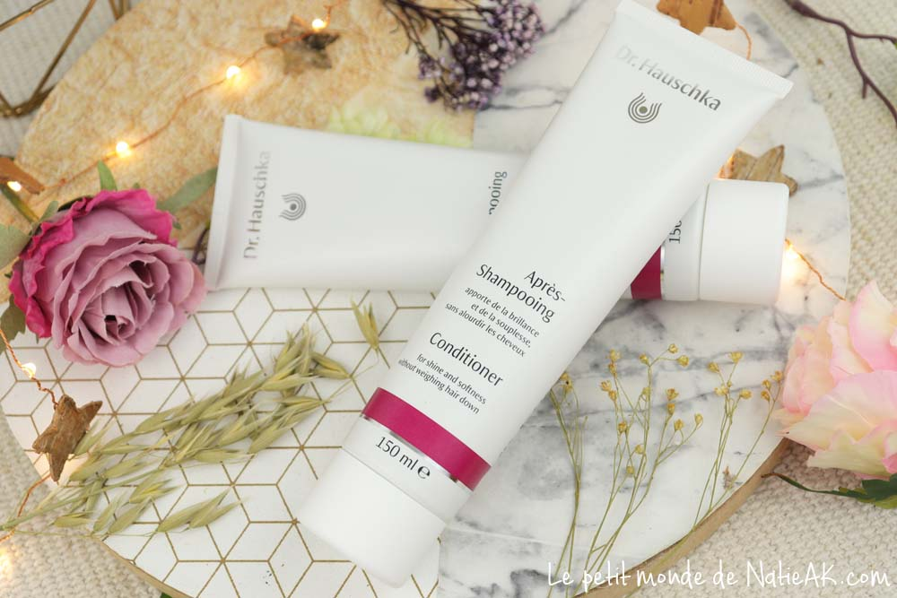 après shampoing sans silicone 100% naturel Dr Hauschka