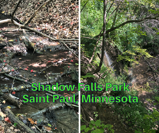 Hiking to a Delicate Cascade at Shadow Falls Park in St. Paul, Minnesota