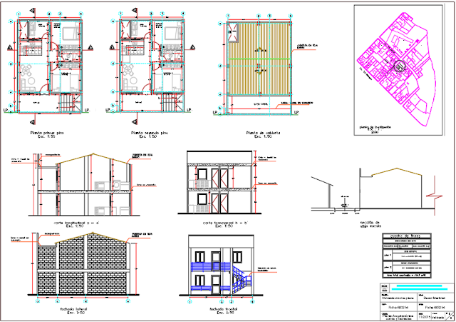 Two-level house DWG