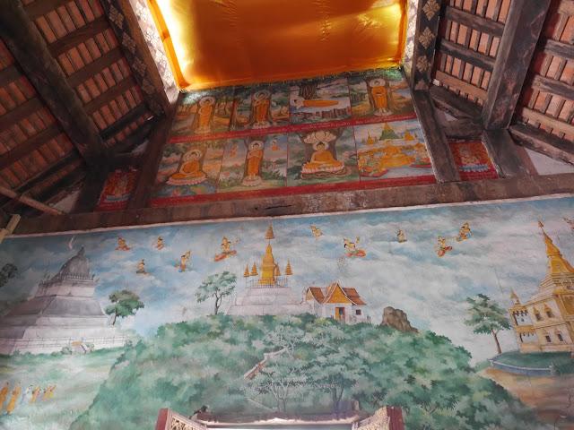 Lao Buddhist temple murals