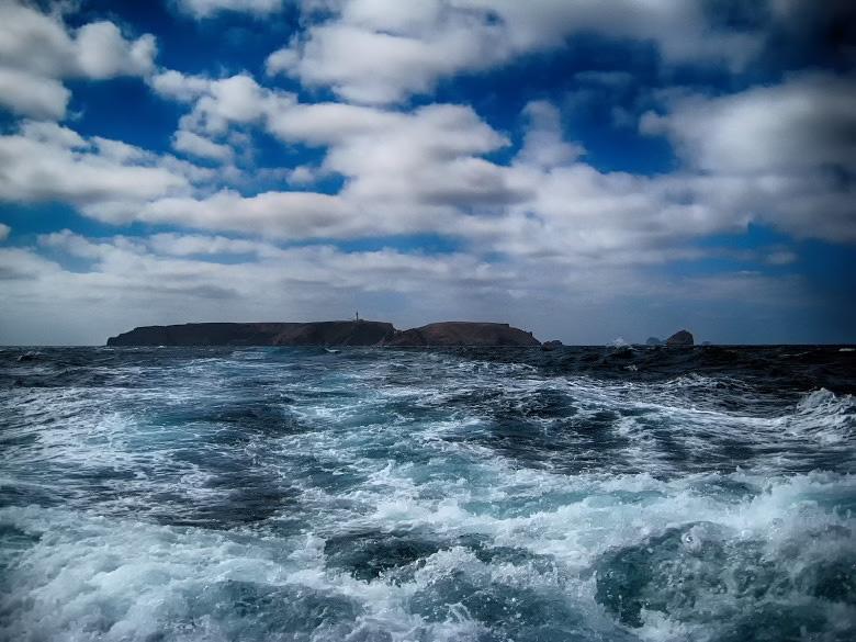 Regresso de barco a Peniche com a Berlenga ao fundo