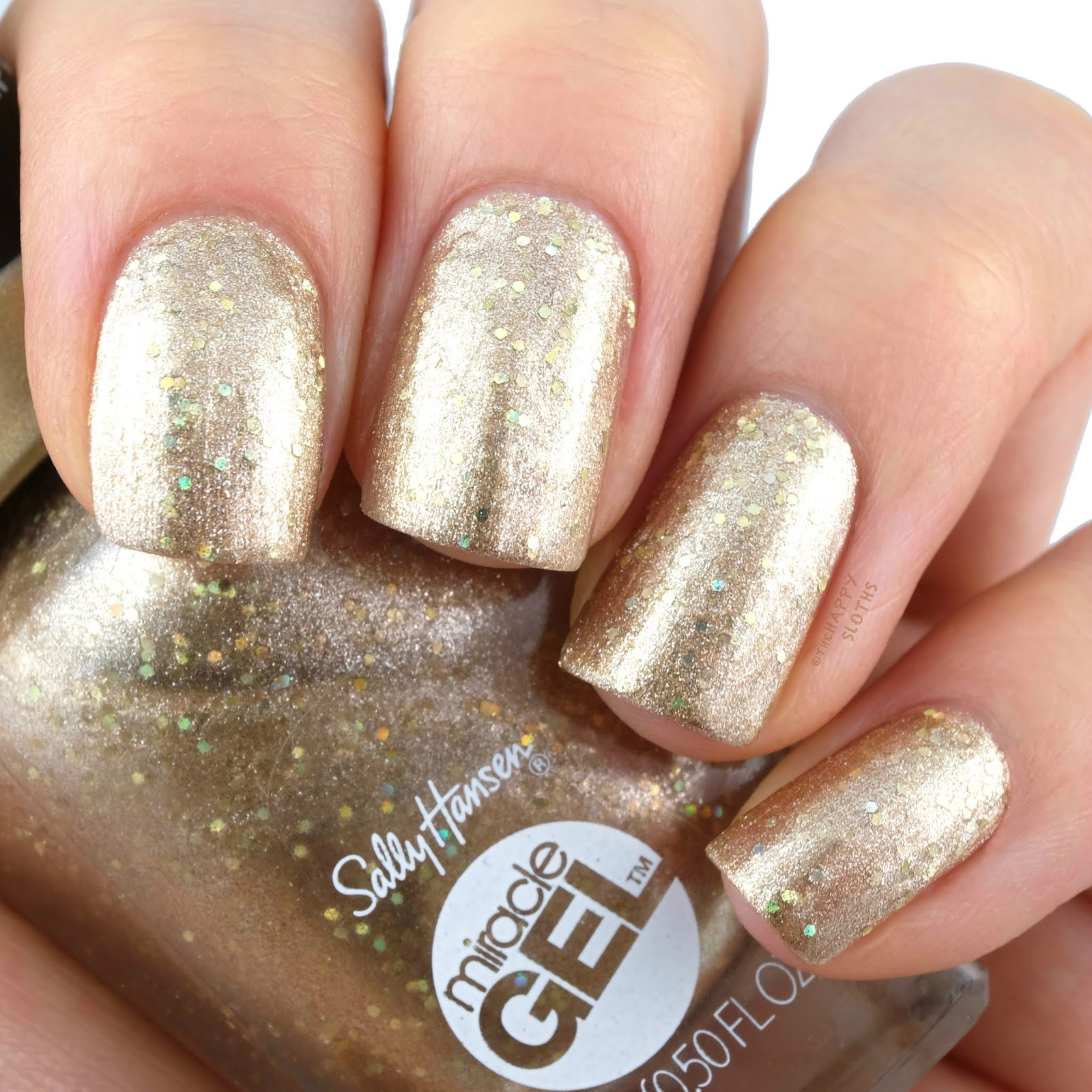 Sally Hansen | Holiday 2019 Oh My Gold! Miracle Gel Collection | 154 Goldie Rocks: Review and Swatches