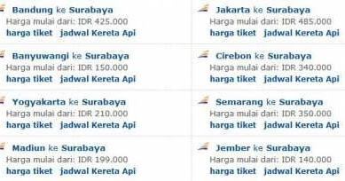 Tiket Kereta Api Murah Ke Surabaya Wisesatravel Com