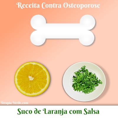 Receita Contra Osteoporose: Suco de Laranja com Salsa