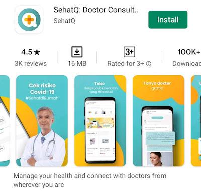 Aplikasi SehatQ booking dokter dengan mudah cepat tepat