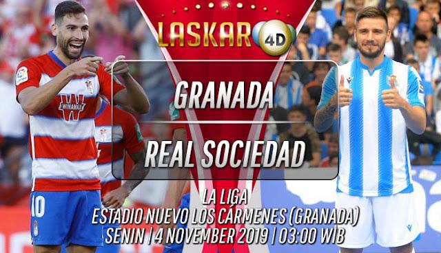 Prediksi Pertandingan Bola Granada vs Real Sociedad 04 November 2019