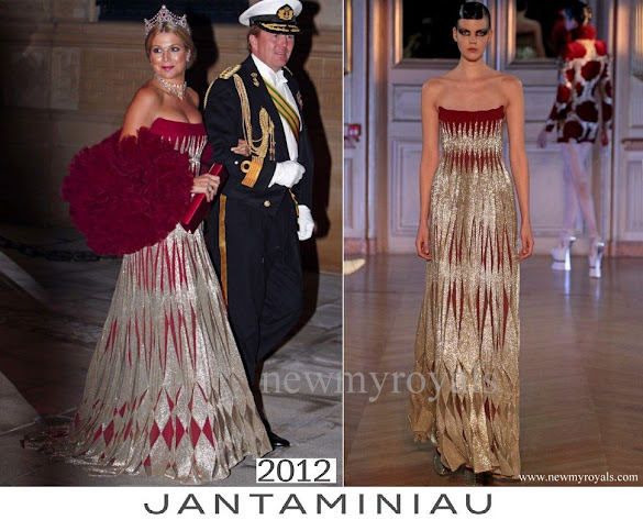 Queen Maxima wore Jan Taminiau Gown
