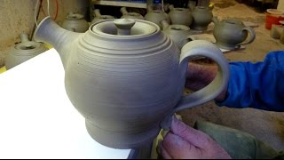 Making a Pottery Teapot on the Wheel