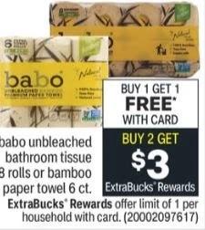 FREE Babo Paper Towels CVS Deals