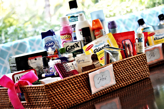 Wediquette And Parties Bathroom Baskets For Your Party Guests