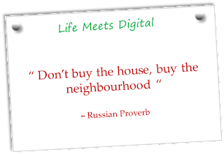 russian quote on house and neighbourhood