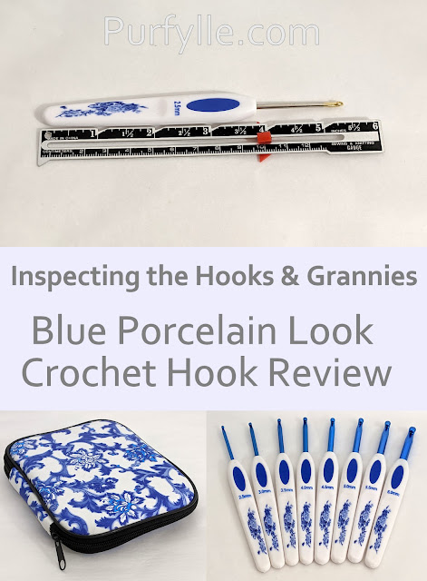Blue Porcelain Look Crochet Hook Review - diving into the details