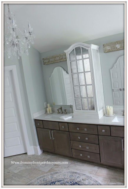 French Country-French Farmhouse-Master Bathroom Makeover-Reveal-Sherwin Williams-Sea Salt-From My Front Porch To Yours