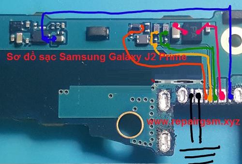 Sơ đồ sạc Samsung J2 Prime