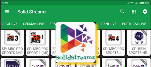 Solid Streamz Best Android Live Tv 2017 Live Sports
