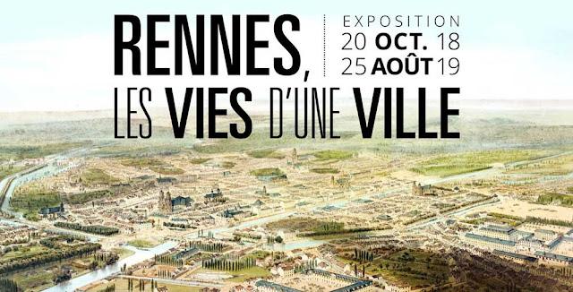 L'affiche officielle de l'exposition « les vies d'une ville » aux Champs Libres de Rennes