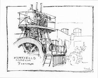 Urban Sketchers Eskilstuna (Sweden): Machines!