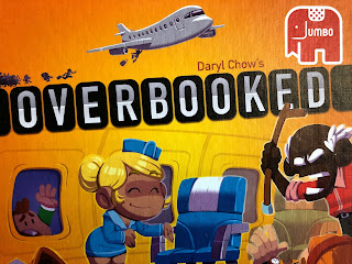Overbooked board game box art