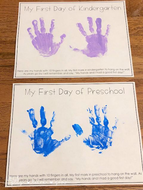 Save all those precious little handprints and have a memory to save forever with this fun handprint poem.