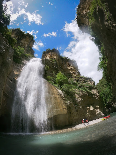 Lunch break by the Love Waterfall, Osumi River, Albania