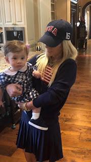Patrick Reeds Wife Justine Karain With Their Son Benjamin