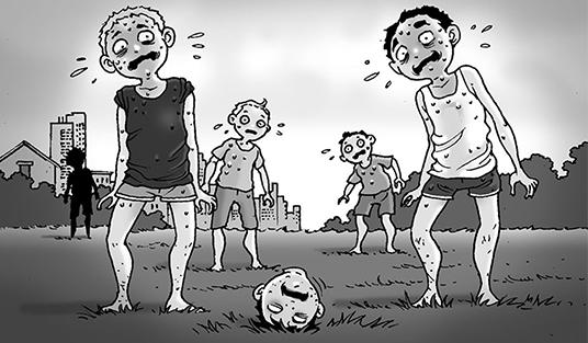 Silent Horror chap 107: Trận bóng đầu người