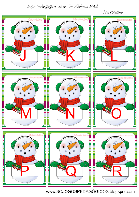 Flash Cards Letras do Alfabeto Natal