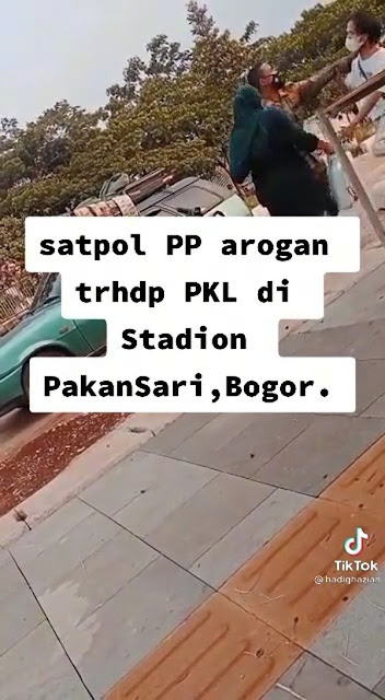 Anggota Satpol PP Cekik Warga Saat Penertiban PKL di Bogor Minta Maaf