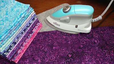 Love & Kisses fabric with Oliso mini iron