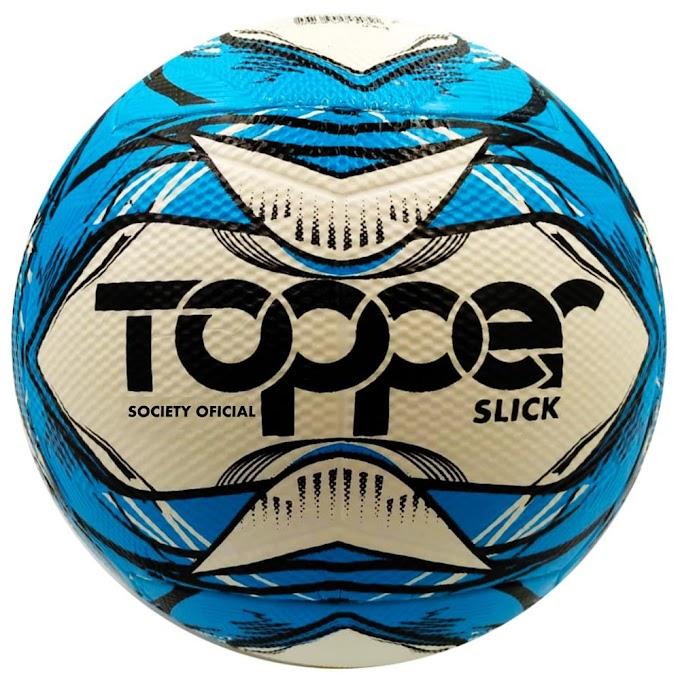 Bola de Futebol Society Topper Slick 2020 - Azul