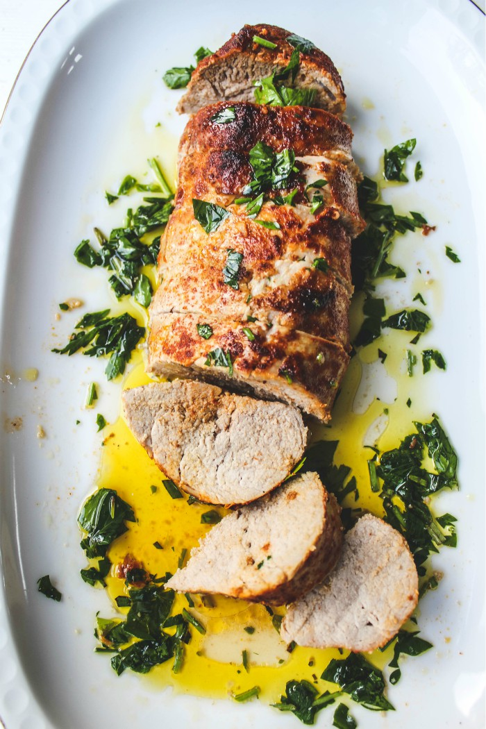 Rosemary and Garlic Pork Tenderloin is delicious and so easy to make. #pork #glutenfree #paleo #lowcarb #easydinnerrecipe #recipe